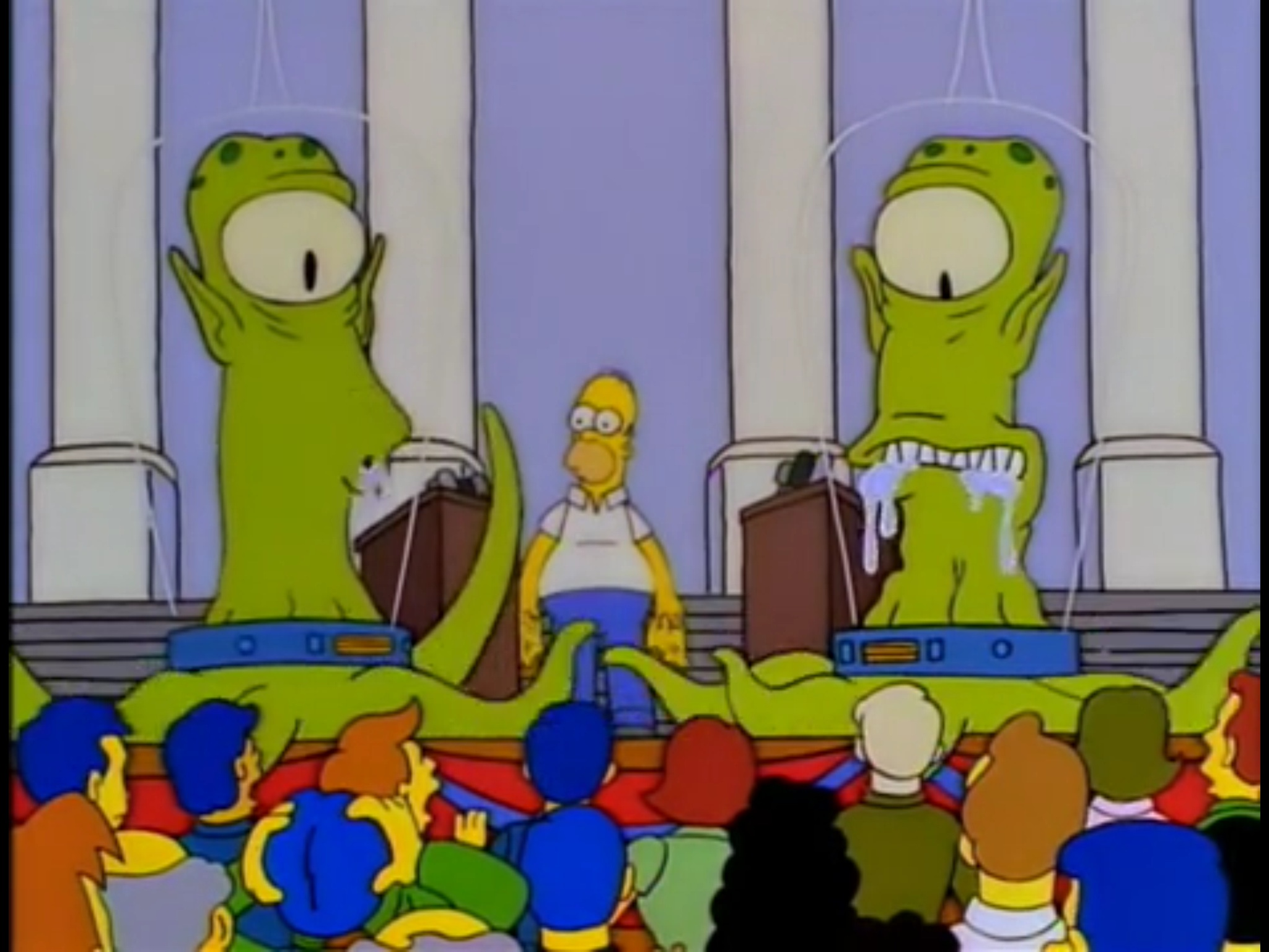 Image result for aliens simpsons