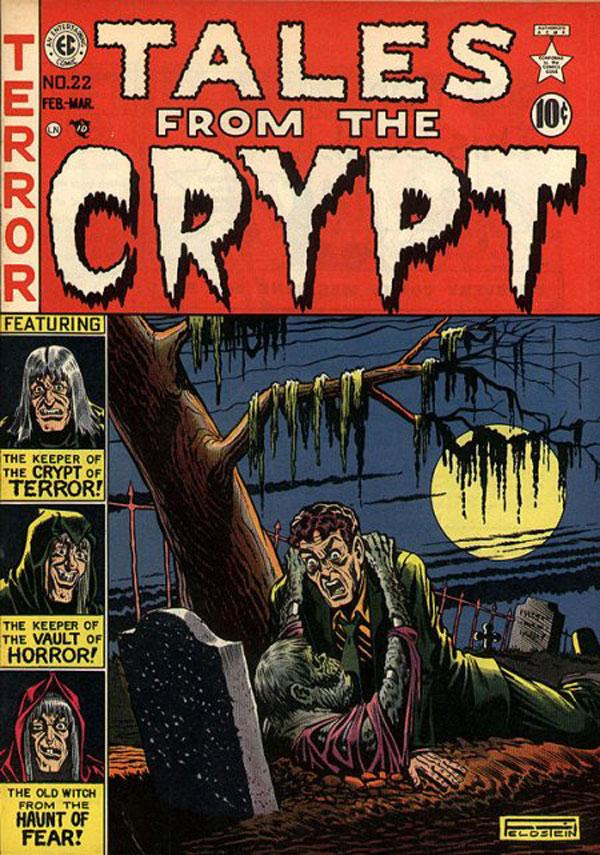 Copertina di Al Feldsteind per 'Tales from the Crypt' #22