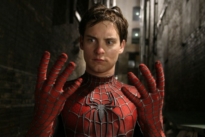 Tobey Maguire in costume