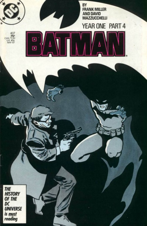 David Mazzucchelli, cover di 'Batman' #407, ultima parte di 'Batman Year One', DC Comics, maggio 1987