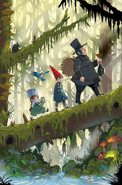 """Over the Garden Wall"" #1, variant cover di Michael DiMotta"