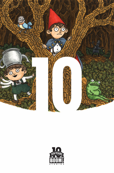"""Over the Garden Wall"" #1, di Jeffrey Brown. Boom 10 Years Variant cover"