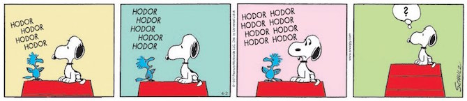 Game Of Thrones Secondo Charlie Brown E Snoopy Fumettologica