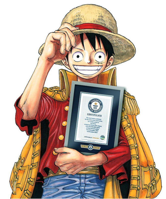 Risultati immagini per guinness world record one piece