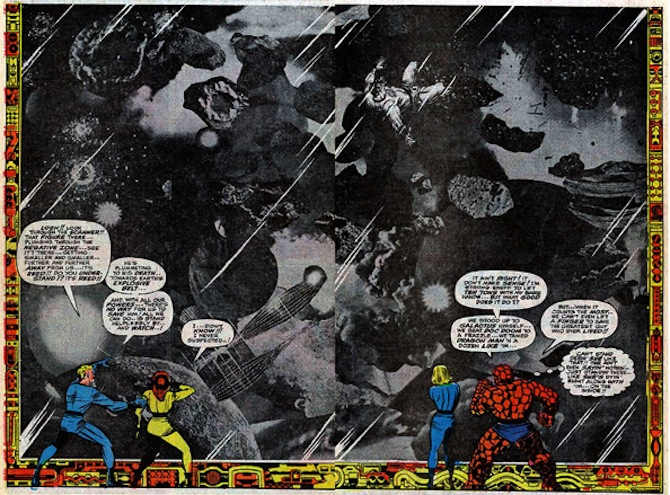 collage jack kirby Fantastic Four #62, 1967
