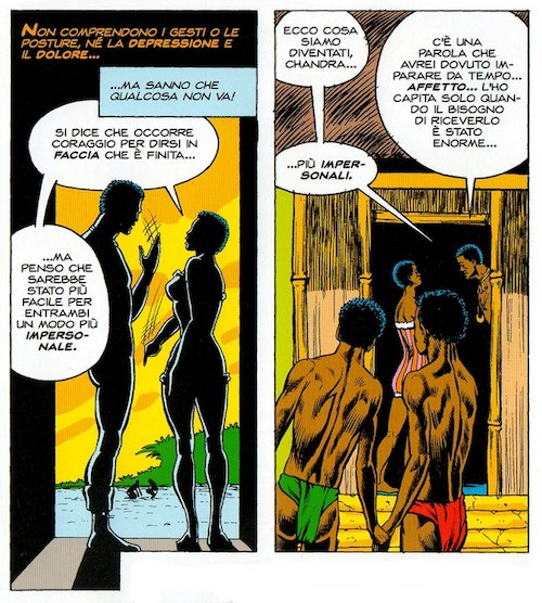 Crisi matrimoniale nel Wakanda, da Jungle Action 18. Testi di Don McGregor, disegni di Billy Graham e Bob McLeod