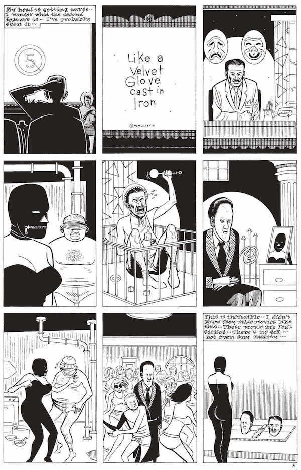 "Una pagina da 'Like a velvet glove cast in iron"" di Daniel Clowes 