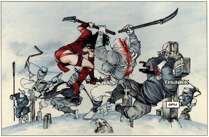 Frank Miller, da 'Elektra lives again', Epic Comics, 1990