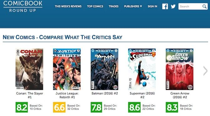 comic book round up fumetti metacritic rotten tomatoes