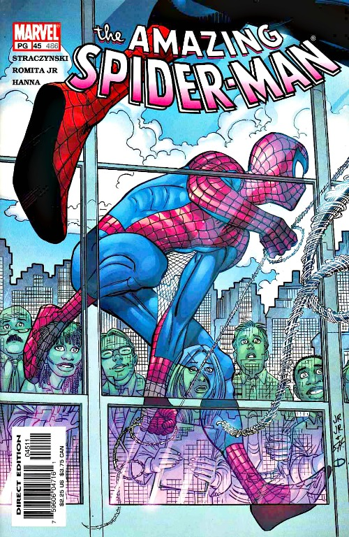 "Copertina di ""The Amazing Spider-Man"" vol 2 # 45, 2002"