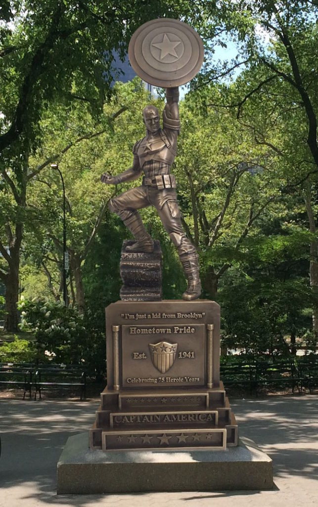 capitan america statua brooklyn