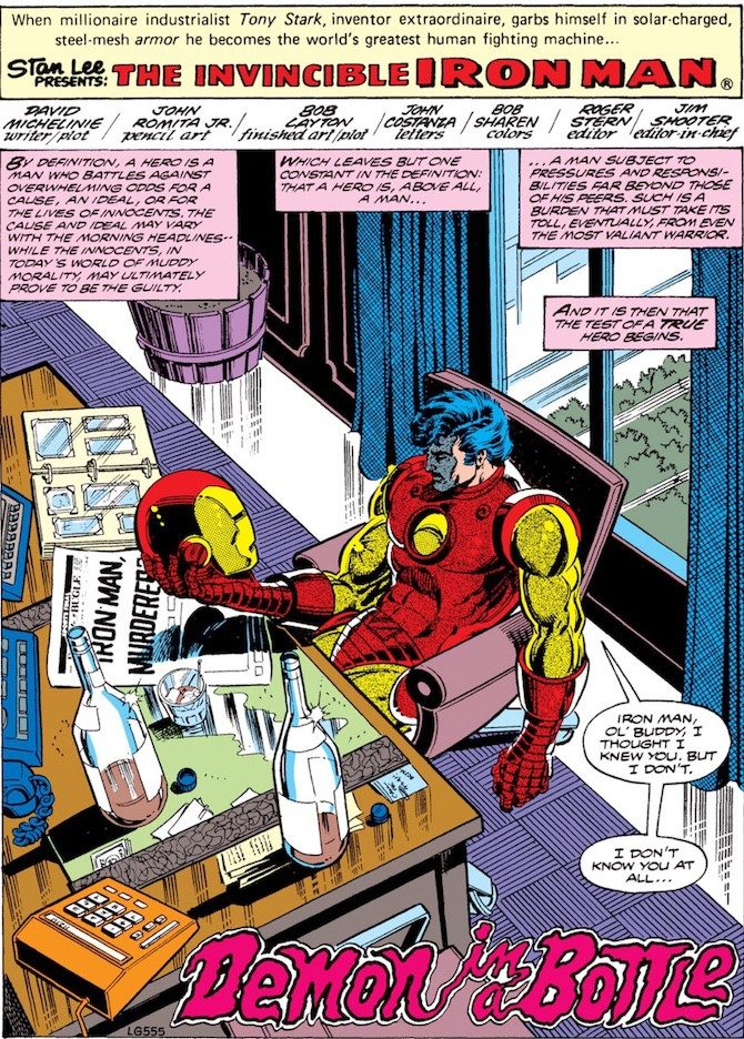 iron man john romita jr demone bottiglia