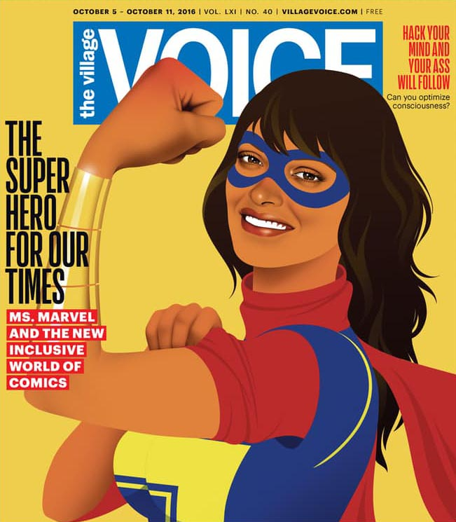 ms marvel village voice cover