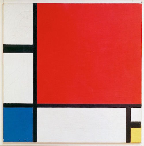 Piet Mondrian, Composition with Red, Blue, and Yellow, 1930, oil on canvas, 46 x 46 cm (Kunsthaus Zürich)