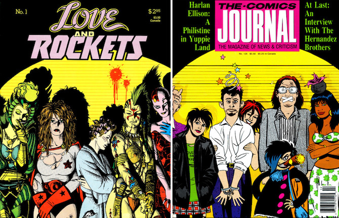 comics journal 126 love and rockets fantagraphics books