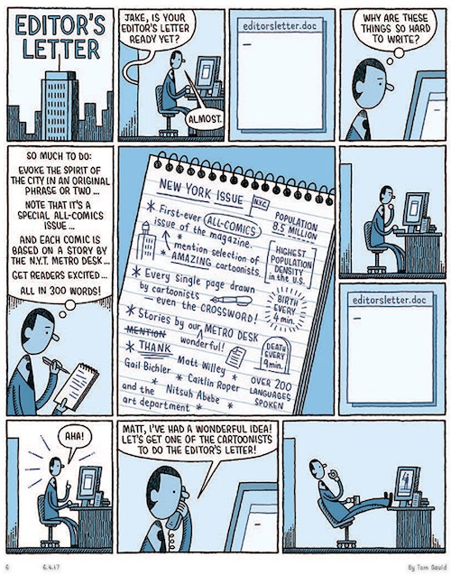 tom gauld new york times magazine fumetti