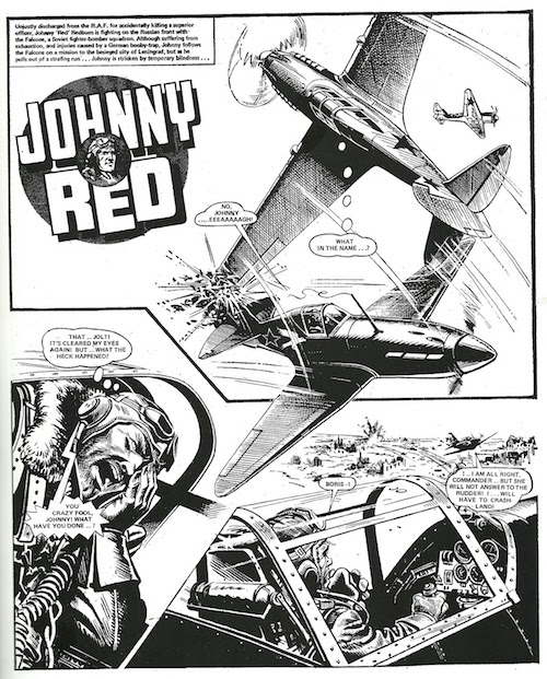johnny red comics battle