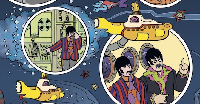 Yellow submarine dei beatles diventa un fumetto
