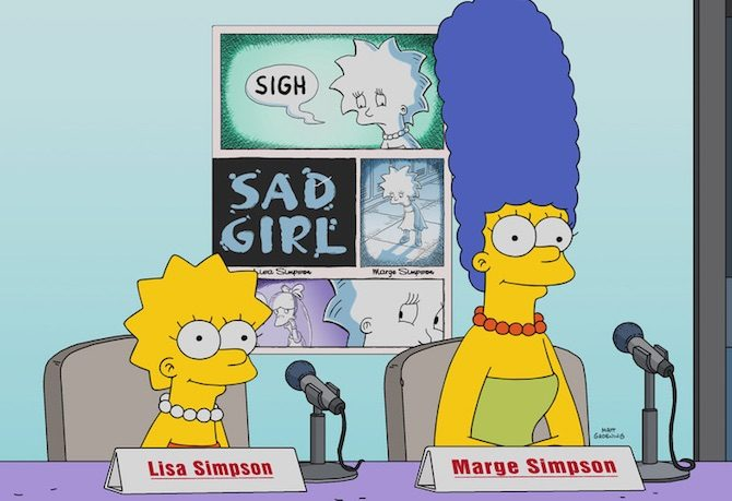 marge lisa comics