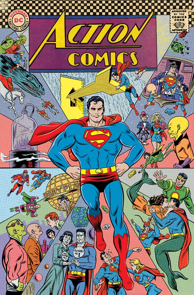 action comics 1000 superman mike allred dc comics