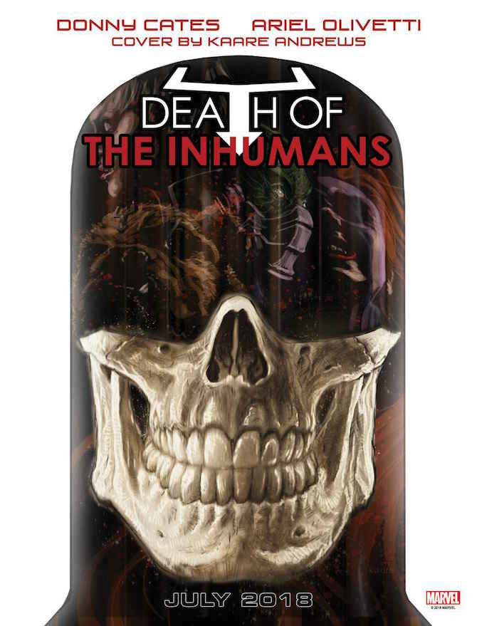 death of the inhumans marvel fumetto