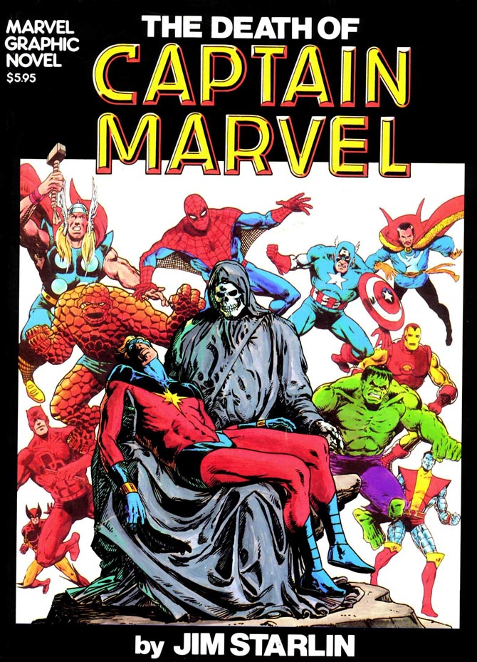 jim starlin morte capitan marvel comics