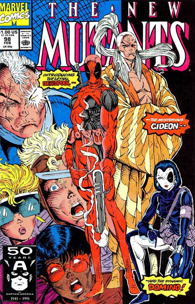 deadpool rob liefeld new mutants marvel comics