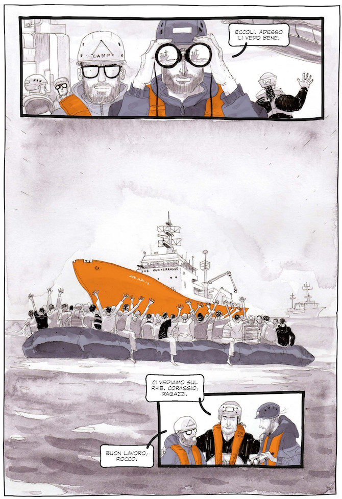 salvezza graphic novel migranti feltrinelli marco rizzo
