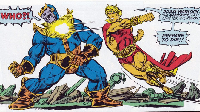 jim starlin thanos adam warlock marvel
