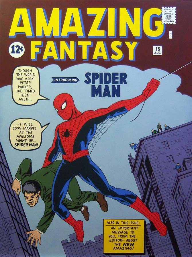 amazing fantasy 15 spider-man stan lee storie