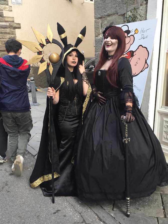 cosplayers lucca comics 2018