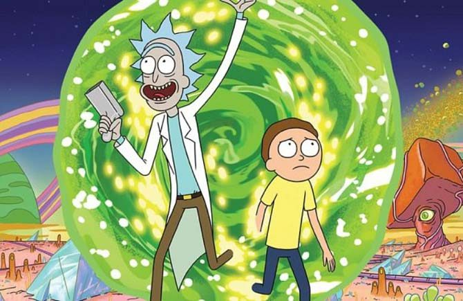 rick e morty anime disegnate