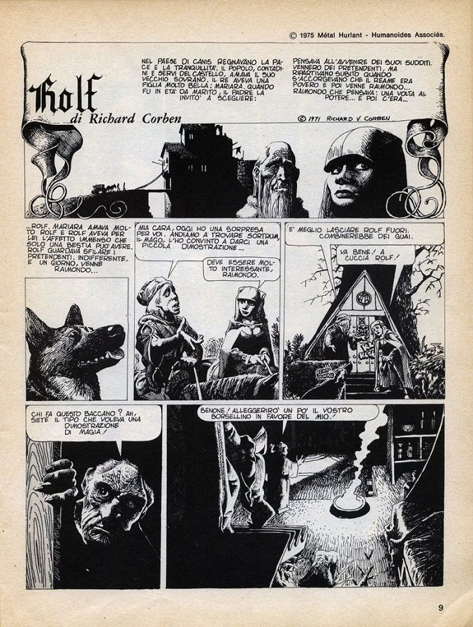 rolf richard corben fumetto