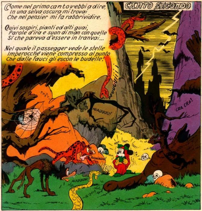 l'inferno di topolino fumetti dante divina commedia