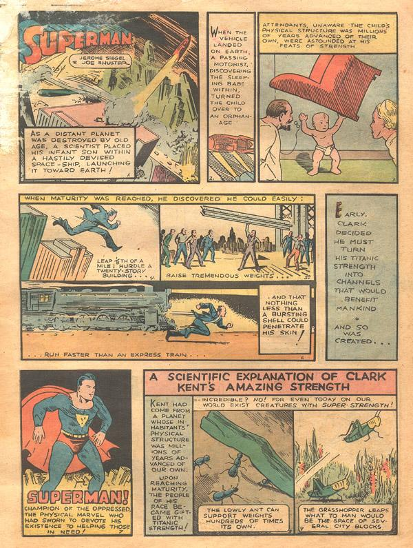 superman fumetti dc comics origini razzo