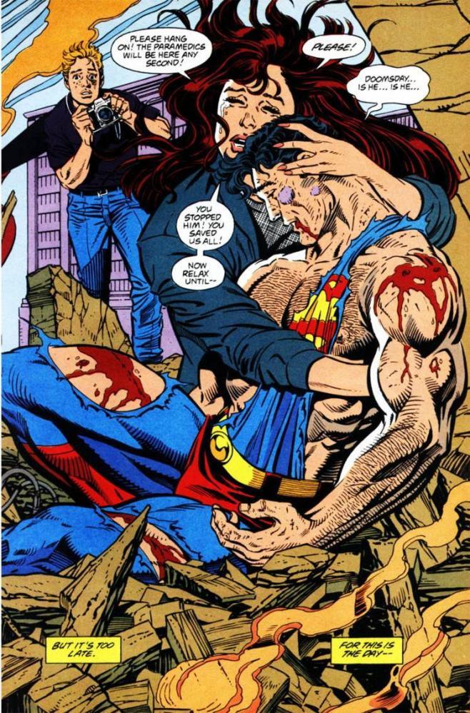 morte superman fumetti dc comics