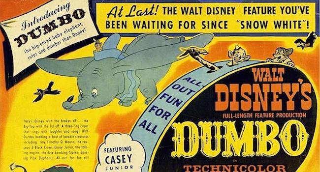 Dumbo dalle origini della fiaba al film di tim burton