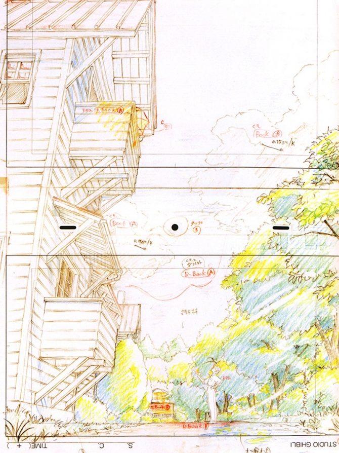 layout si alza vento hayao miyazaki