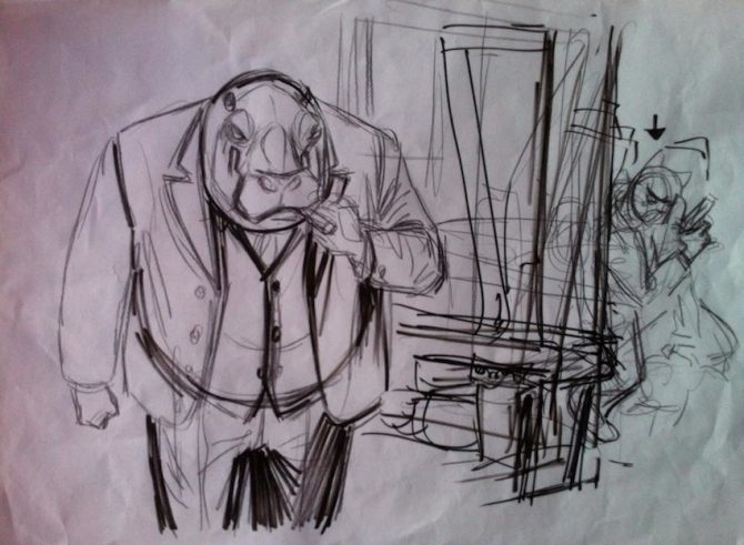 illustrazione Blacksad Juanjo Guarnido