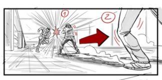 jeeg robot storyboard film