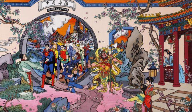 Jacky Tsai supereroi quadri cinesi
