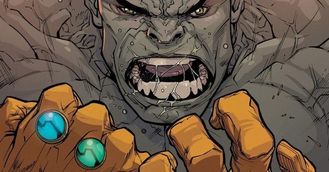 hulk guanto dell'infinito avengers endgame fumetti