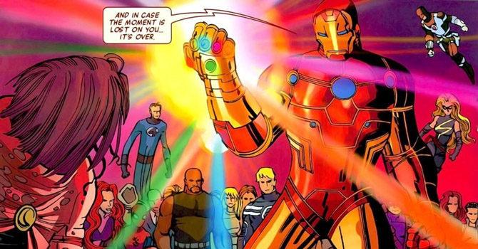 iron man guanto dell'infinito