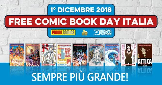 free comic book day FCBD 2018 panini rw bonelli fumetti gratis