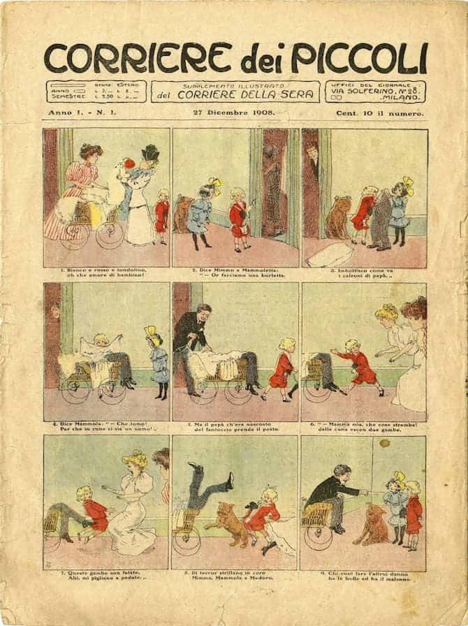 primo numero corriere dei piccoli 1908