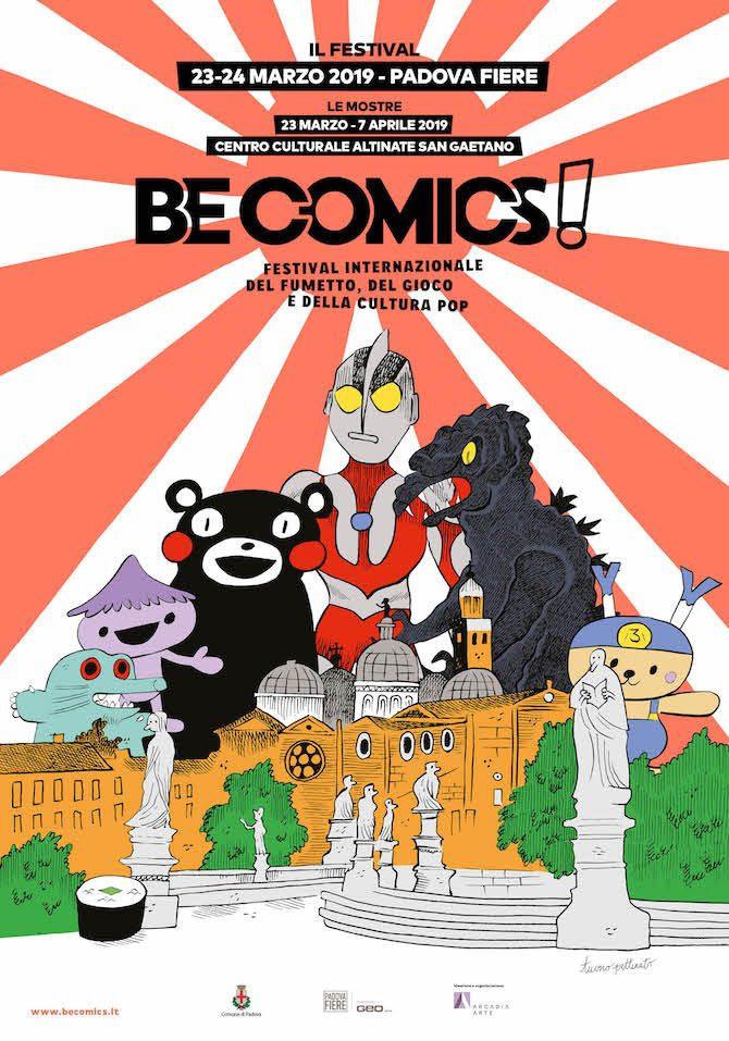 Be Comics 2019 programma Padova Tuono Pettinato