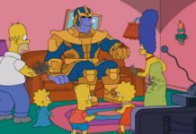 thanos simpson couch gag