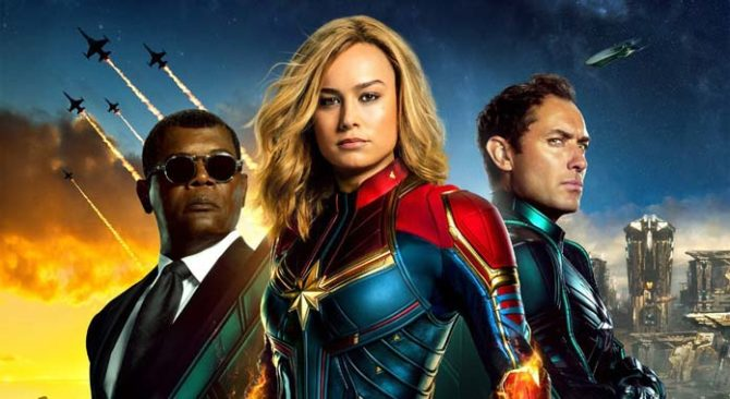 captain marvel poster binge watching film marvel