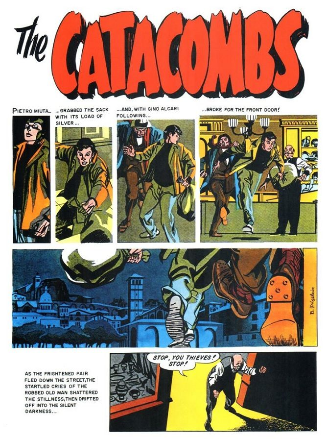 Bernard Krigstein the catacombs fumetto
