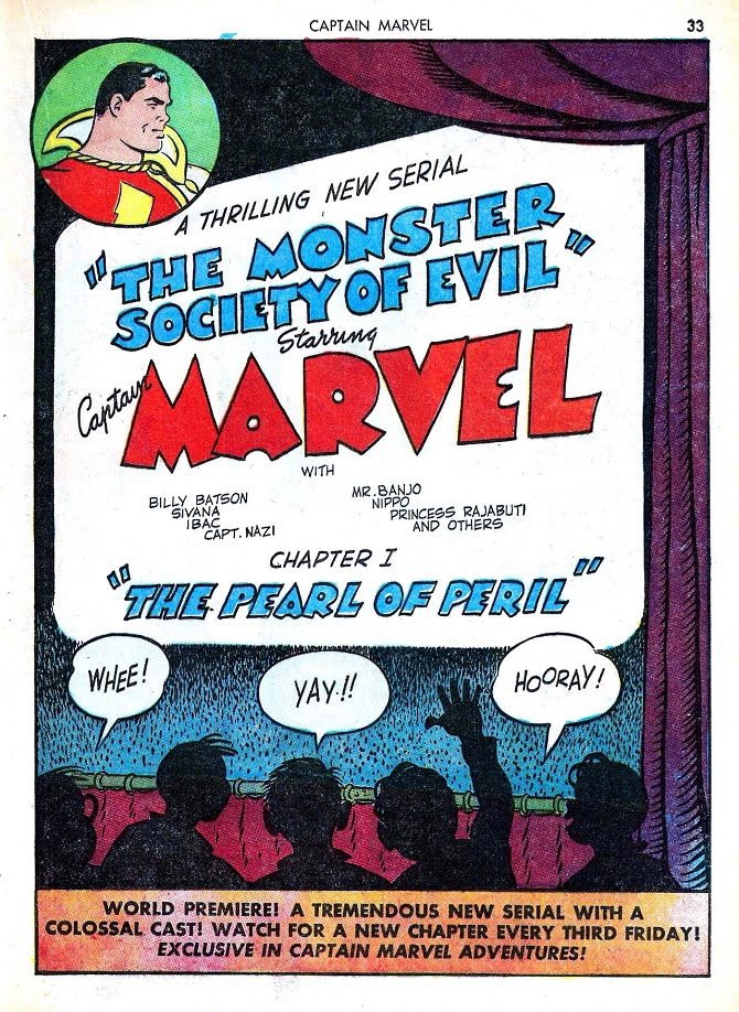 shazam monster society of evil captain marvel